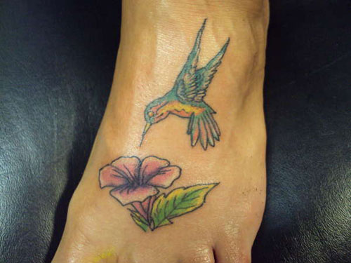 Hummingbird Tattoo On Foot Hummingbird Tattoo For Foot