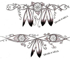 Indian Dreamcatcher Tattoo Designs