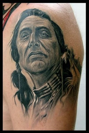Indian Portrait Tattoo Image