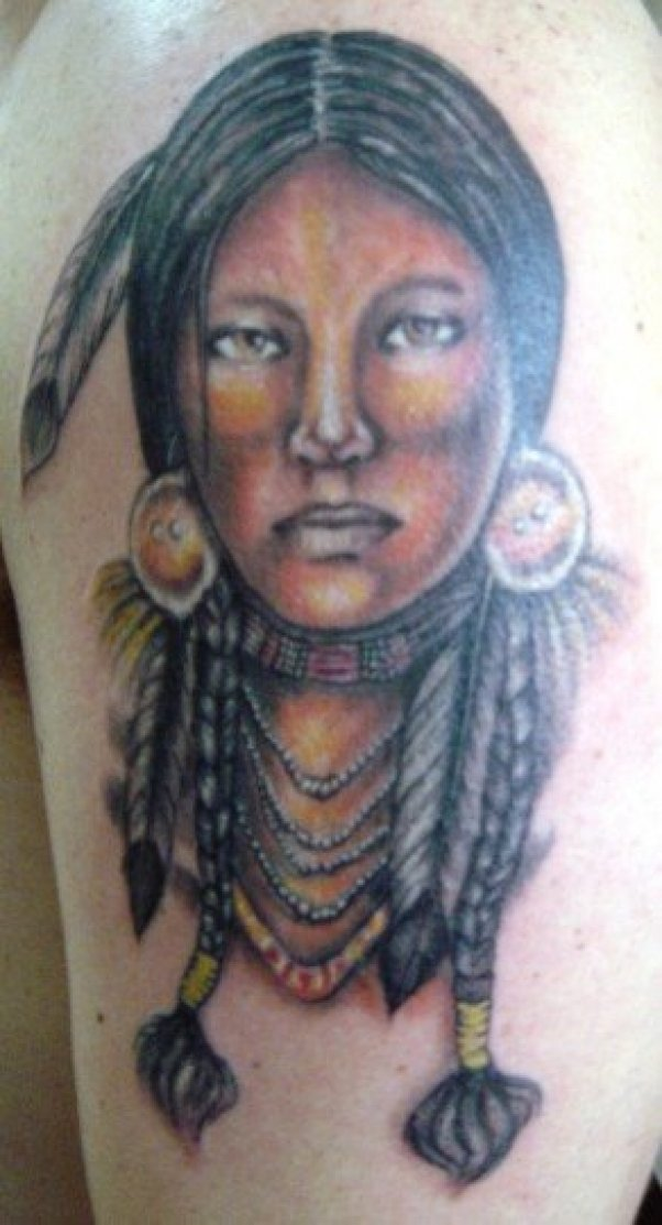Indian Woman Tattoo Design