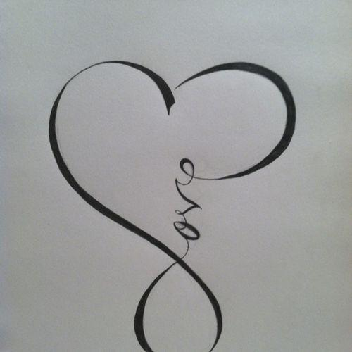 Infinity Love Tattoo Design