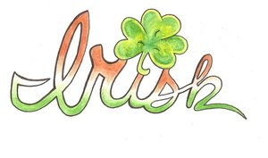 Irish Clover Tattoo Design