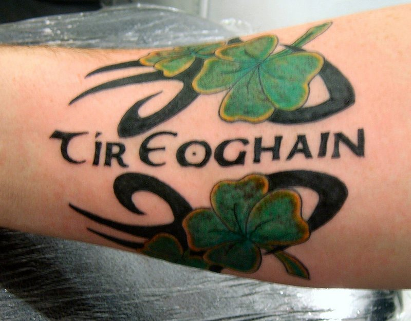 Irish Clovers Tattoo On Arm