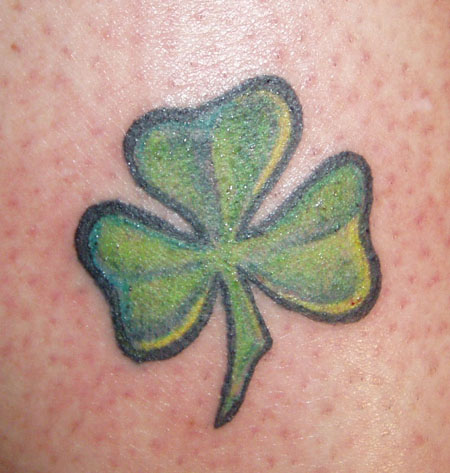 Irish Shamrock Tattoo