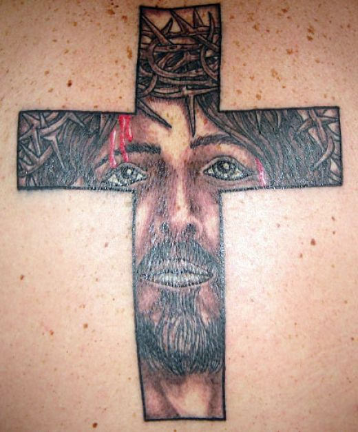 Jesus Cross Tattoo Art