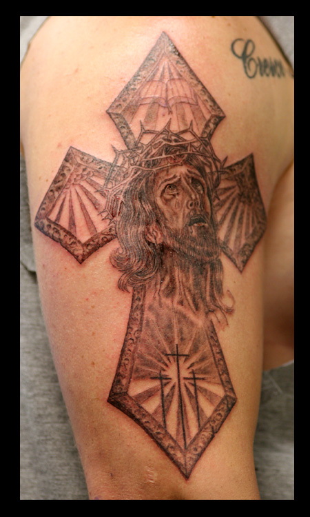 Jesus Cross Tattoo Image