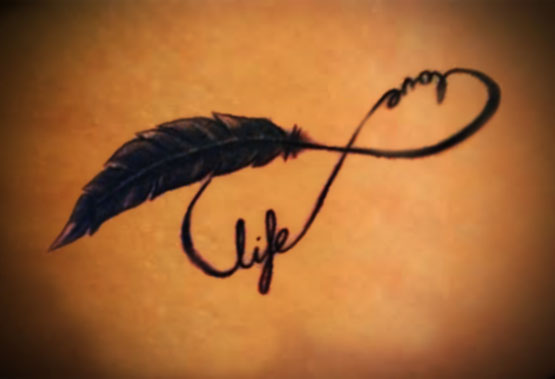 Love Life Infinity Tattoo Poster