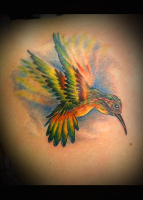 Mind Blowing Hummingbird Tattoo Design