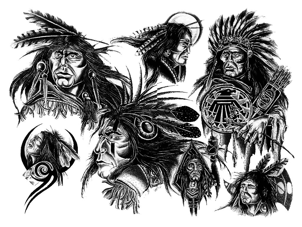 Native American Indian Tattoo Designs