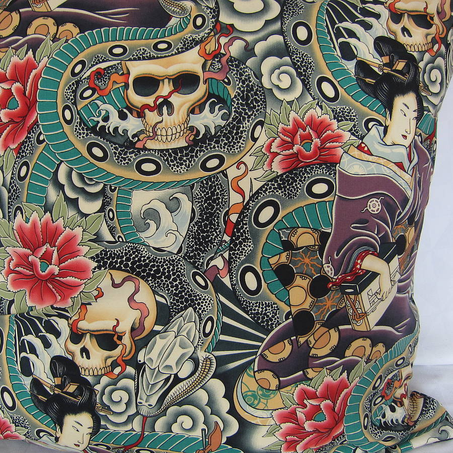 Original Japanese Tattoo Cushion