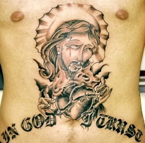 Religious Jesus Tattoo On Chest