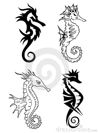 Sea Horse Tattoo Designs