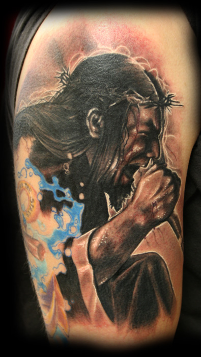 Singing Jesus Tattoo Design