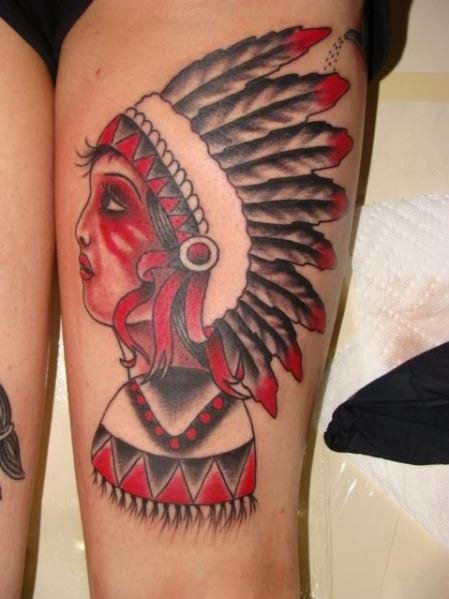 Traditional Indian Skull Tattoo