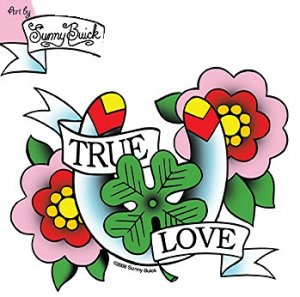 True Love Horseshoe Tattoo Design