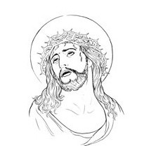 Uncolored Jesus Tattoo Sample