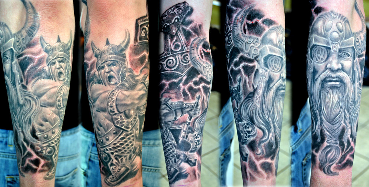 Viking Horror Sleeve Tattoo Project