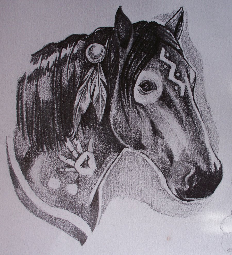 War Horse Tattoo Design