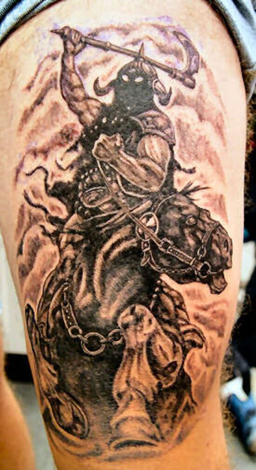 Warrior Horse Tattoo Design