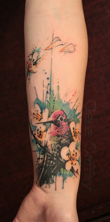 Hummingbird Tattoo On Wrist
