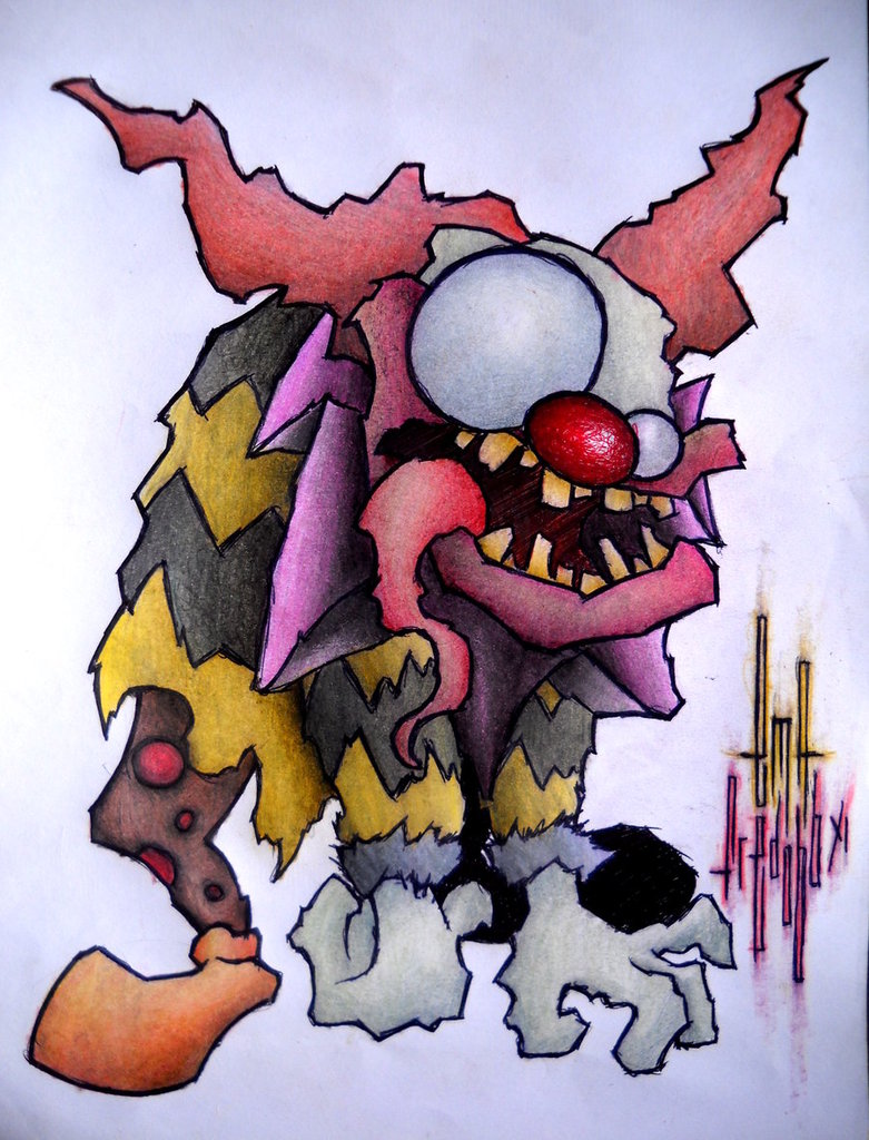 Zombie ICP Clown Tattoo Design