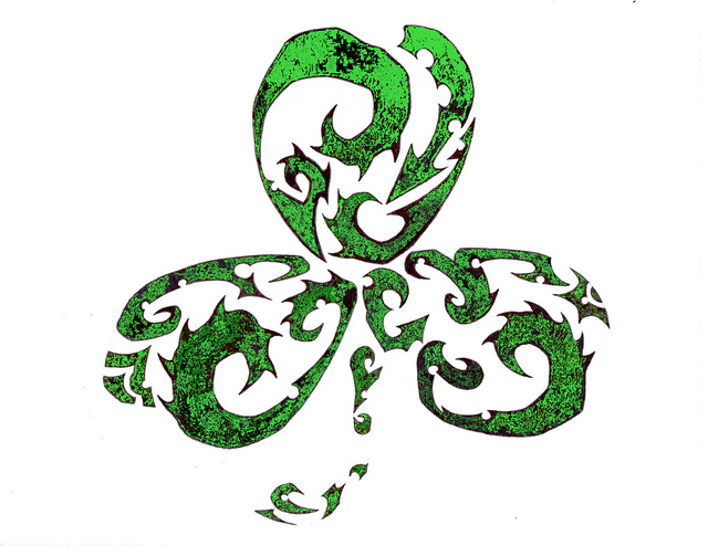 3 Leaf Shamrock Tattoo Sample