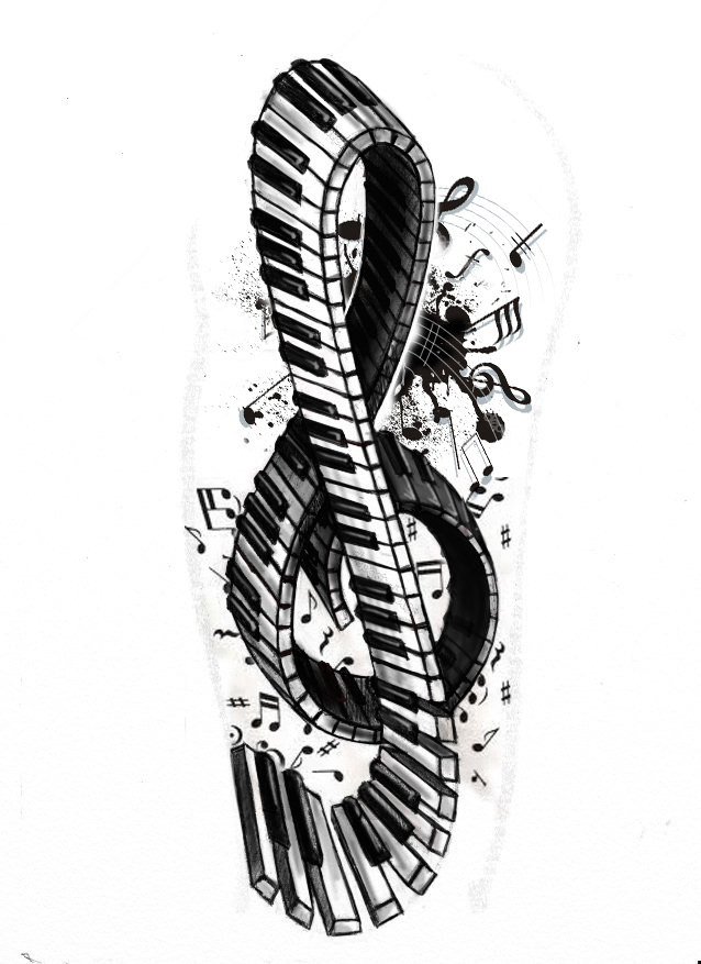 violin-piano-key-tattoo-design