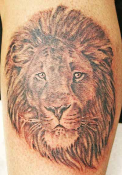 Two headed lion tattoo - photo#13