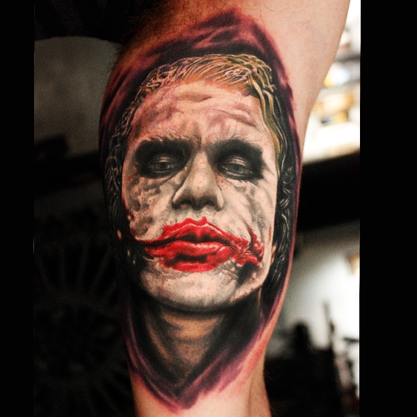 Again Batman Joker Tattoo Design
