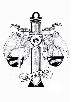 Again Libra Tattoo Design