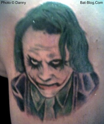 Angry Batman Joker Tattoo Design