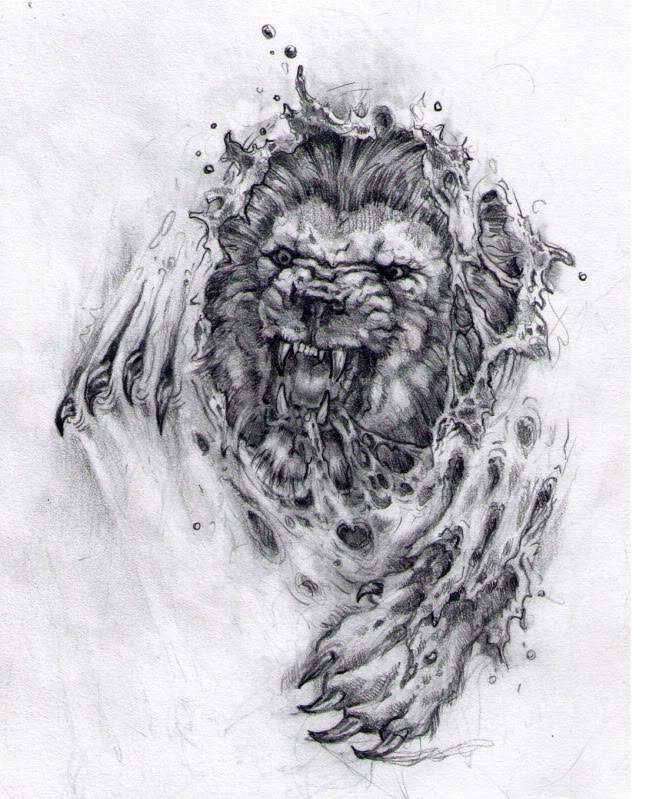 Angry Lion Tattoo Picture