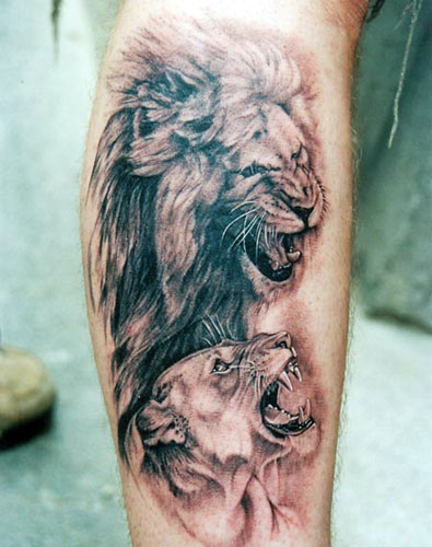 Angry Lions Tattoo Design