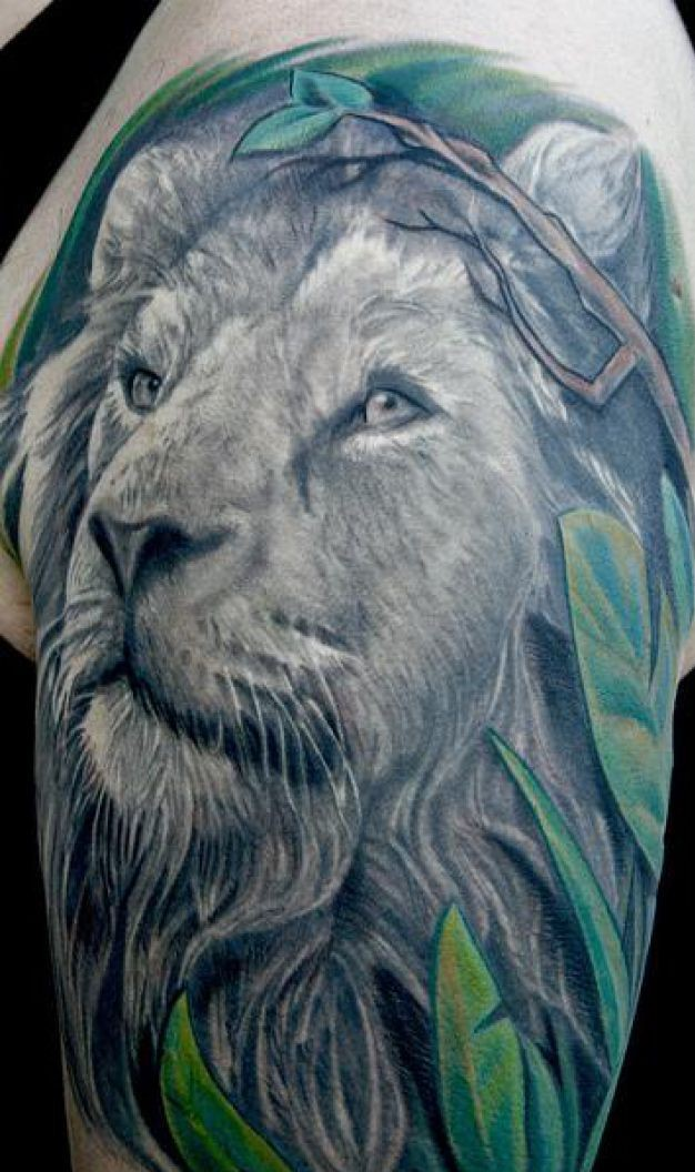 Animal Lion Tattoo Design
