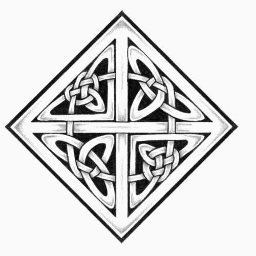 Awesome Celtic Knot Tattoo Stencil