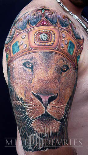 Awesome Half Sleeve Lion King Tattoo For Men
