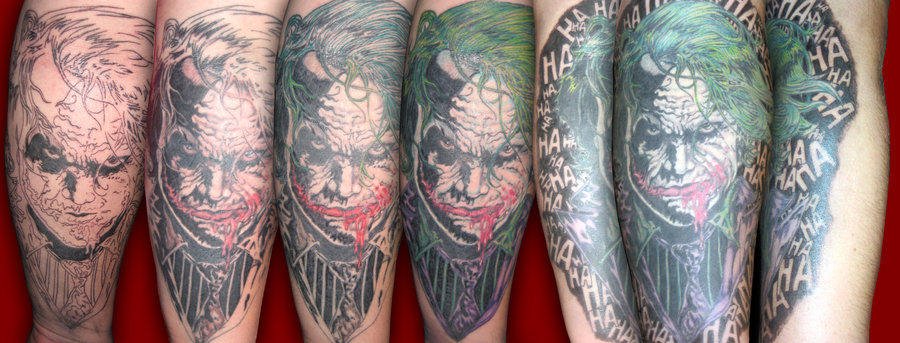 Batman Joker Tattoo Design