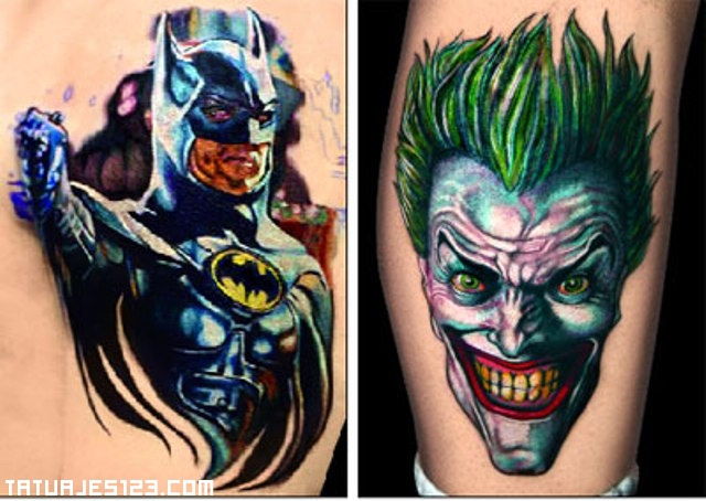 Batman n Joker Tattoo Design