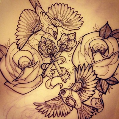 Key tattoos designs and ideas page 52