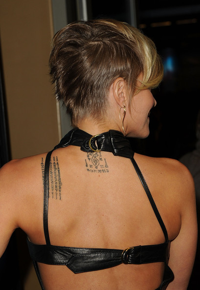 Brittany Daniel Lettering Tattoo Designs On Back