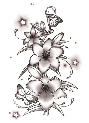 Gallery For gt White Lily Flower Tattoo Designs