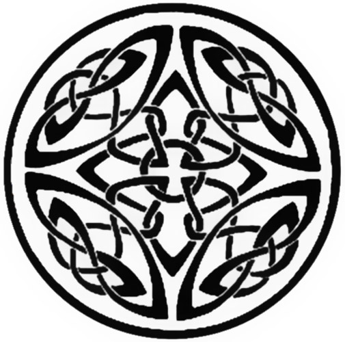 Celtic Knot Circle Tattoo Stencil