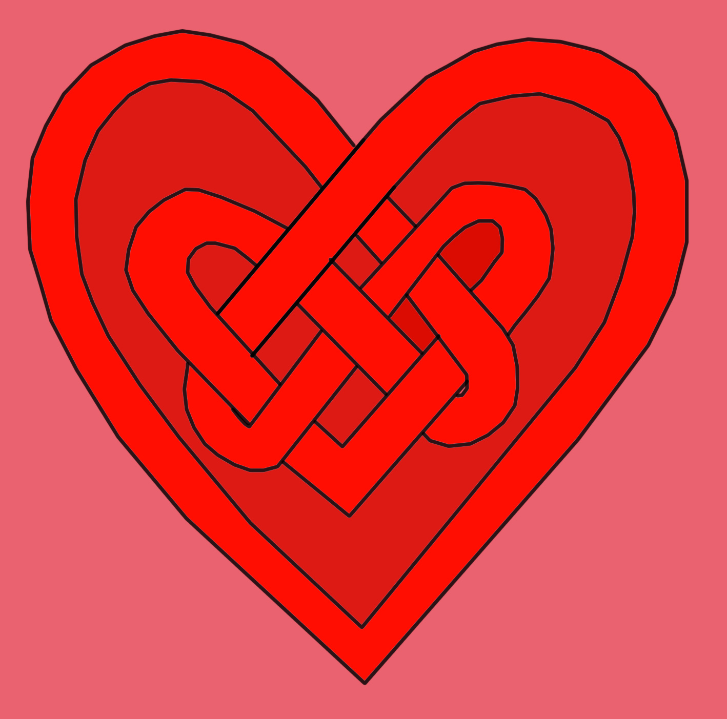 Celtic Knot Heart Tattoo Graphic