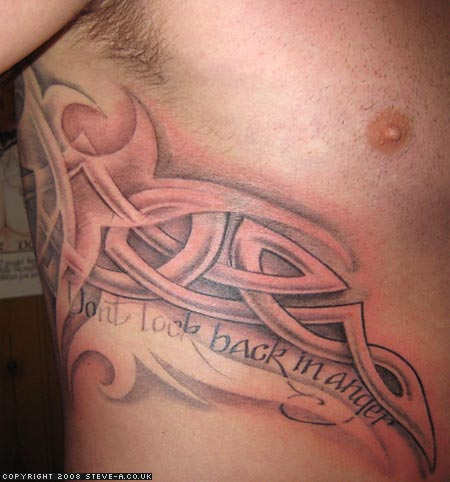 Celtic Knot Tattoo On Ribs For Men