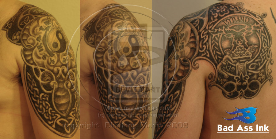 Celtic Knot Work Tattoo On Shoulder For Men