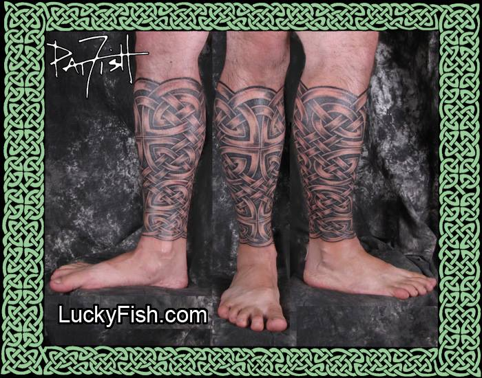 Celtic Leg Sleeve Tattoo Pictures
