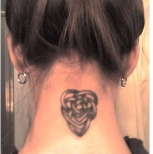 Celtic Motherhood Knot Tattoo On Back Neck