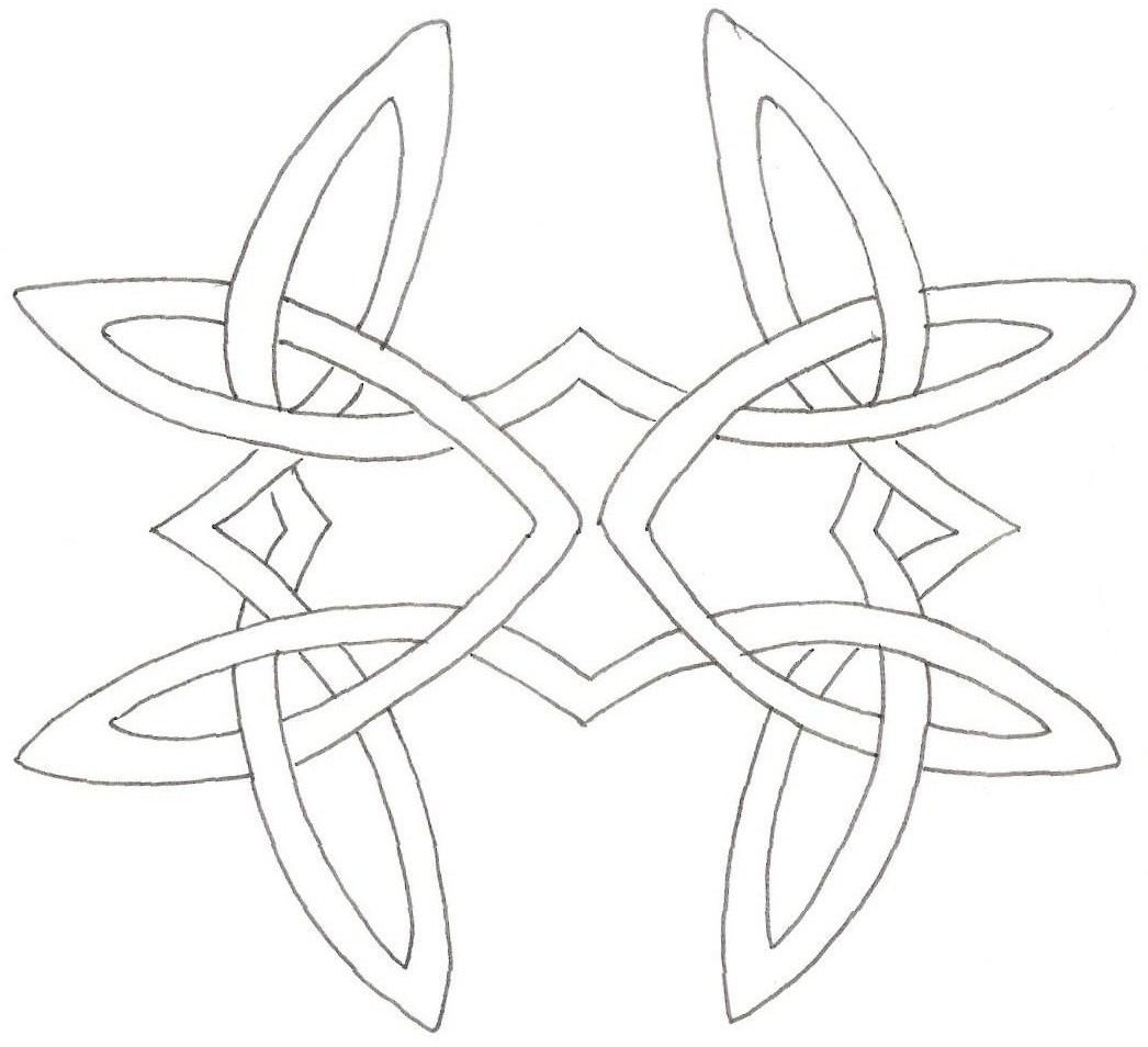 Celtic Outline Knot Tattoo Stencil