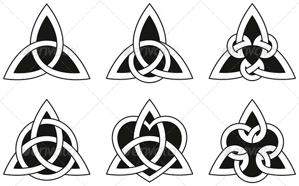 Celtic Triangle Knots Tattoo Designs