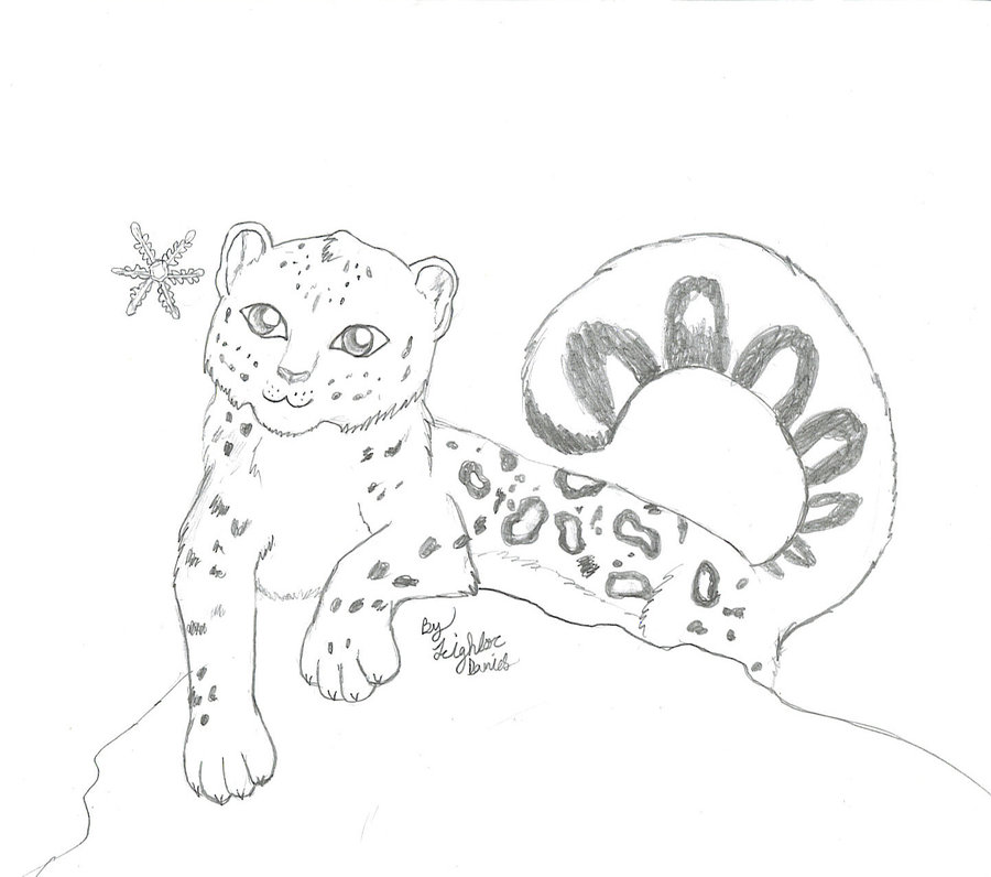 Chibi Snow Leopard Tattoo Drawing